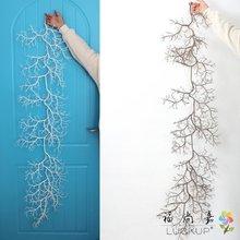 1 шт. искусственные 140 см(55 дюймов) длинные пластиковые сушеные лозы ротанга ветка растения Свадебные украшения для дома фестиваль для подвешивания F495