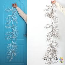 1 PCS Artificial 140CM (55 inch) Long Plastic Dried Vine Rattan Branch Plant Wedding Home Festival Decoration for Hanging F495(China)