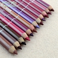 12 Colors Dark Brown Coffee Purple Red Black Long Lasting Waterproof Lip Liner Pencil Makeup Lipsticker  DIY Salon Pens Tool