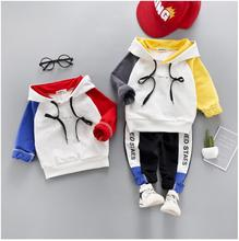 hot deal buy zwxlhh 2019 spring new baby boy girls clothing sets children kids letter clothes suits hooded+pants infant toddler costume