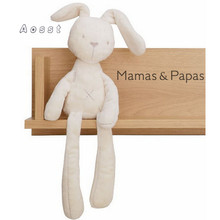 2017 söt kanin baby mjuk plysch leksaker för barn kanin sovande kompis fyllda & plysch djur babyleksaker för spädbarn