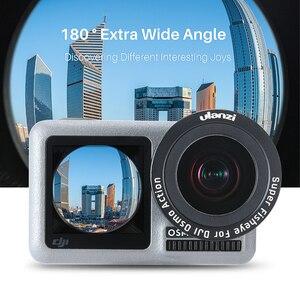 Image 5 - ULANZI OA 5 Makro Lens OA 6 Balıkgözü Lens DJI Osmo Eylem optik cam Lens Alüminyum Alaşım Lens Osmo Eylem Aksesuarları