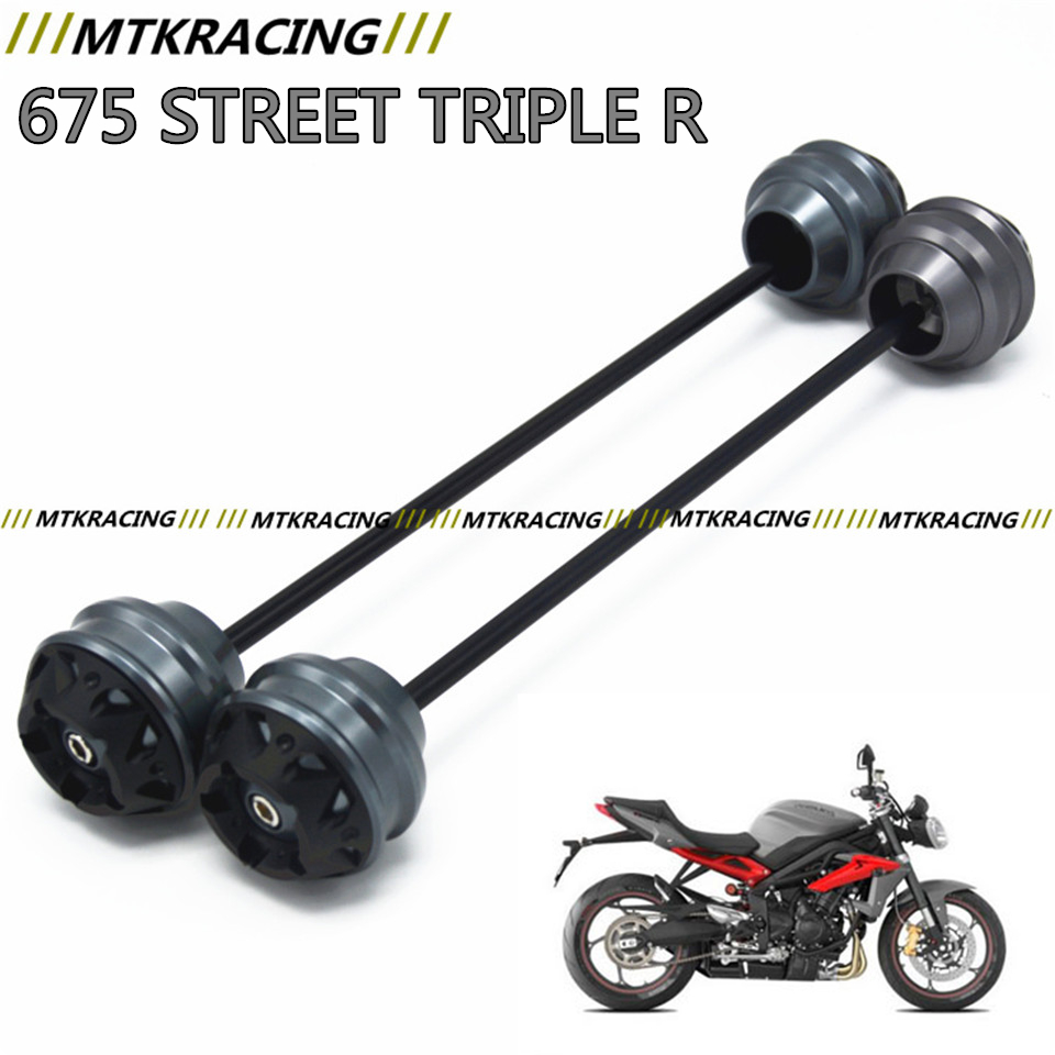 MTKRACING for TRIUMPH 675 STREET TRIPLE R 2008-2016CNC Modified Motorcycle Front and rear wheels drop ball / shock absorber absorber cover cap front shock absorber cover cap for dynas 2008 2013 except 2008 fxdse