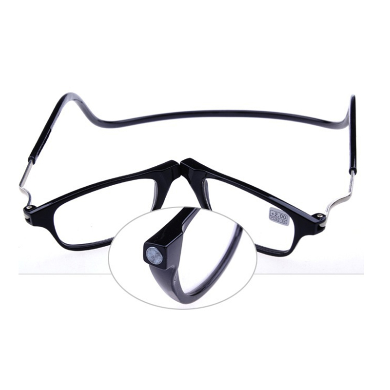 12551c0388 Actualizado imán gafas de lectura hombres mujeres colgante ajustable cuello  magnético Delgado frente óptica Presbyopic Eyeglasses + 1,00 + 1,50