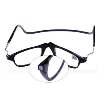 221f773721 Gafas de lectura magnéticas mejoradas para hombres y mujeres, cuello  colgante ajustable, gafas de óptica frontal delgada magnética y  presbiópicas + 1,00 + 1 ...