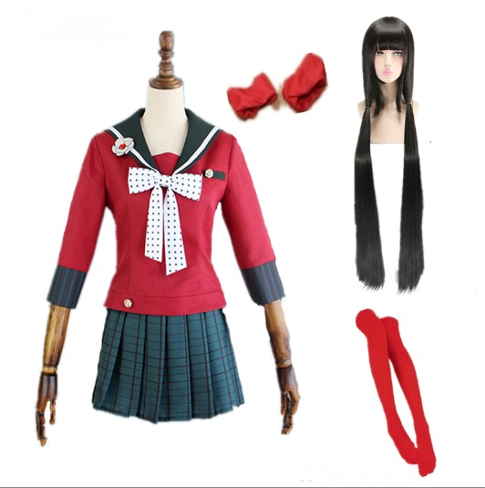 Danganronpa V3 Killing Harmony Harukawa Maki School Uniform Cosplay Costume Custom Any Size Wigs