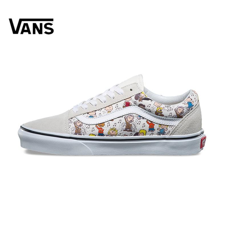 2568138cef7 Original New Arrival Vans Men s   Women s Classic OLD SKOOL X Peanuts  Low-top Skateboarding Shoes Sneakers Canvas VN0A38G1QVW