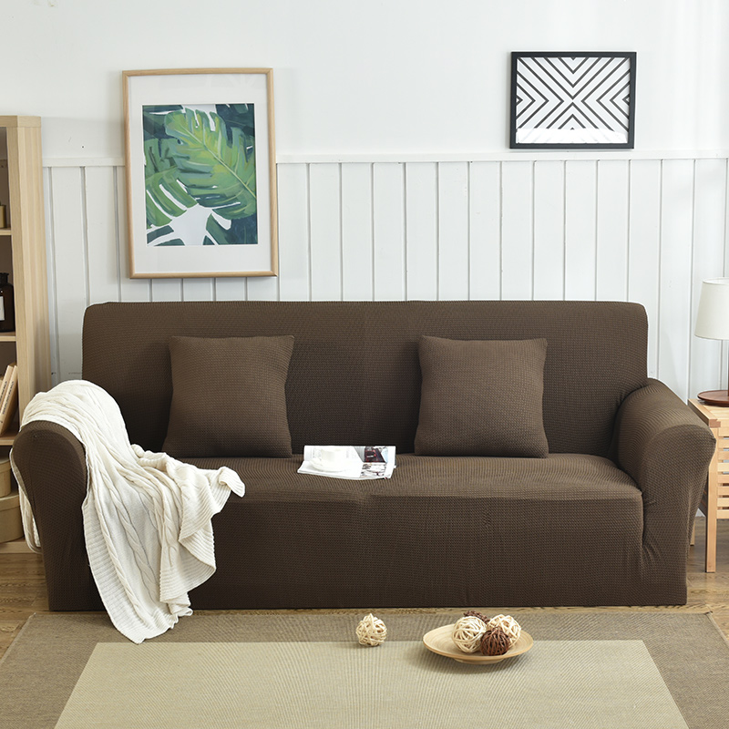 Dark Coffee Reduce Sofa Slipcover Couch Stretch Covers