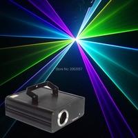 Новое поступление 500 МВт 3D полноцветный RGB луча лазера Свет для DJ диско клуб DMX512 Профессиональный Сценический Эффект Проектор