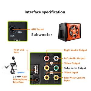 Image 3 - Hikity radio samochodowe 2 din autoradio RDS nawigacja GPS FM Bluetooth multimedialny odtwarzacz wideo z mikrofonem pilot Stereo