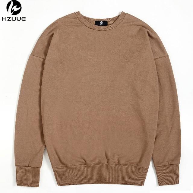 HZIJUE New Oversize Cotton Sweatshirt Men 2017 Autumn Winter Hip Hop street  In Mens Hoodies and Sweatshirts pullover Size 9a30df5af