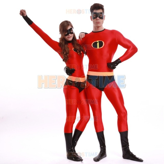 High Quality Adult Mens/Women Halloween Incredible Superhero Cosplay Costumes Lycra Zentai Incredibles Costume Female  sc 1 st  AliExpress.com & High Quality Adult Mens/Women Halloween Incredible Superhero Cosplay ...