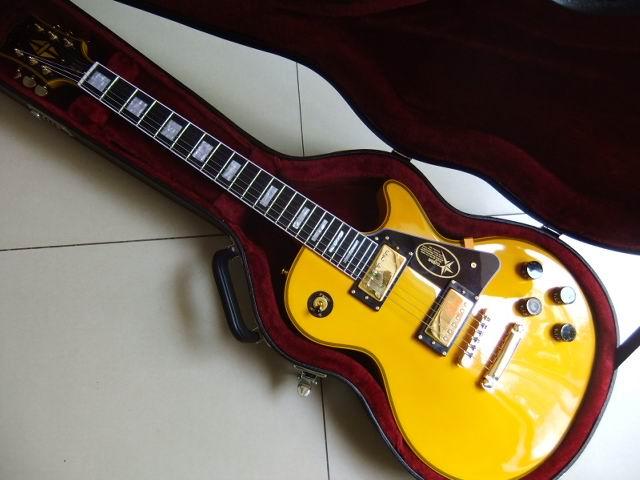 New Arrival LP  Randy Rhoads Guitar  One Piece Neck Ebony Fingerboard /Fretside Binding In Yellow Price not include case110609 proac response d one ebony