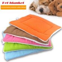 High grade soft polar fleece cozy all seasons pet blankets indoor cushion air conditioning blanket 5color S-XL