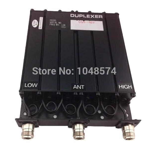 Envío libre 450 MHz 30 W UHF duplexer 6 cavidad n Conector hembra para Radio repetidor
