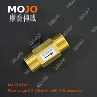 Free Shipping MJ CL43W 5 Pieces 3 4 Magnetic Type Copper Brass Water Switch Outside Treads