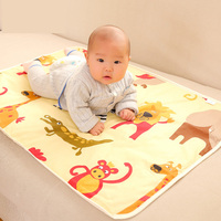 2016 3layer 75x120cm Baby Infant Thicken Waterproof Urine Bed Mat Animal Reusable Diaper Travel Home Cover