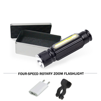 COB working lamp flashlight With magnet usb XML T6 led torch flash light Built in 18650 battery camping Night reading light