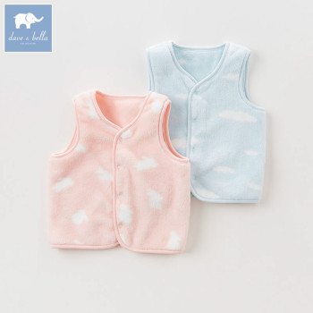 DB6068 dave bella autumn infant baby unisex girls fashion soft coats kids sleeveless vest toddler coat children clothes image