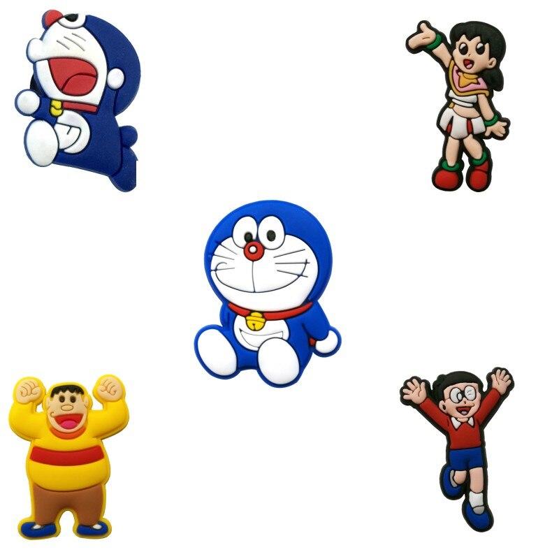 1pc Doraemon Adventures PVC Shoe Charms Shoe Accessories Shoe Decoration Buckles Accessories Fit Band Bracelets Croc JIBZ  Kids