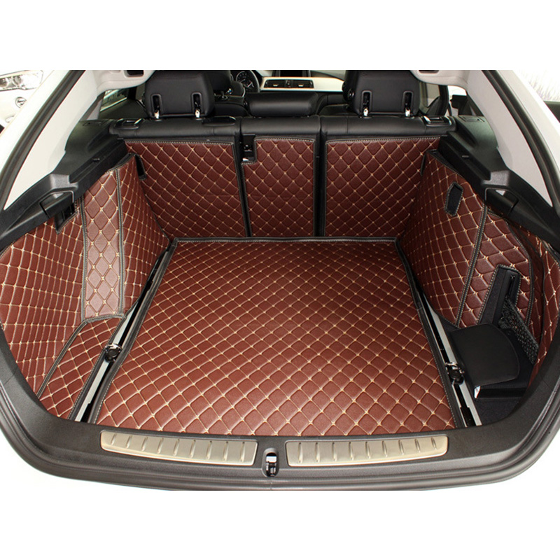 Lsrtw2017 Fiber Leather Car Trunk Mat For BMW 3 Series GT
