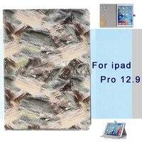 Apple iPad için Pro 12.9 Vaka PU Deri Akıllı Grafiti darbeye Tablet Kılıfları iPad Için manyetik akıllı Kapak Pro 12.9