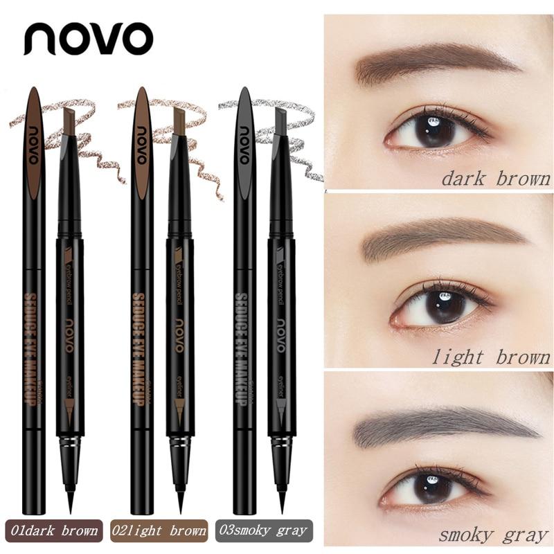 Novo Double end Eye Makeup Set Eyebrow Pencil + Eye Liner ...