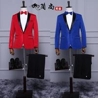 Pattern Personality Blazer Men Formal Dress Suit Men Costume Homme Terno Slim Stage Marriage Wedding Suits
