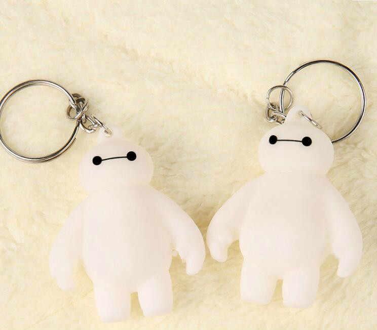 1 יחידות גדול hero 6 בלון צעצוע מחזיק מפתחות שומן ילדי מתנות דמות פעולת צעצועי בובות בובת Baymax גבר לבן חם