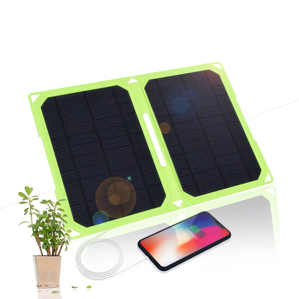 Xinpuguang 14W ETFE Solar Panel Faltbare 5V 2A Dual USB Solar Panel Power Ladegerät Power Bank für Smartphones laptop Tabletten-in Solarzellen aus Verbraucherelektronik bei  Gruppe 1