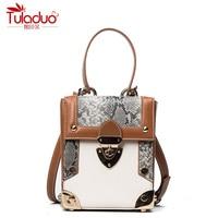 Famous Designer Design Serpentine Women Top Handle Bags High Quality PU Leather Women Shoulder Crossbody Bags