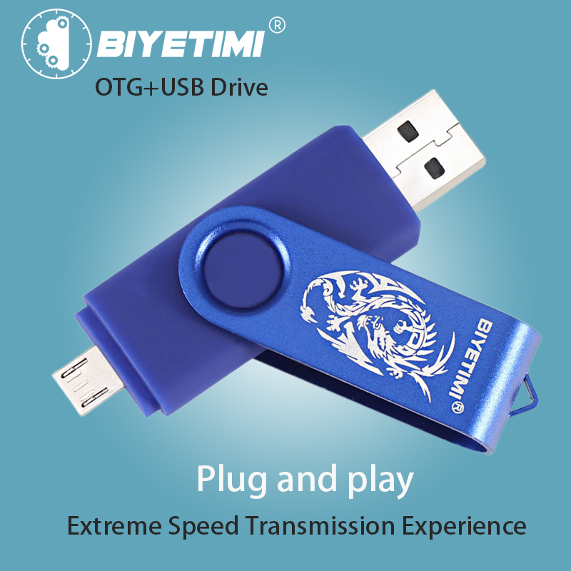 Biyetimi Dargon USB Flash Drive 64G 32G 16G 8G Pendrive High Speed Android Backup Data OTG 2.0 Smart Phone Extra Memory For PC