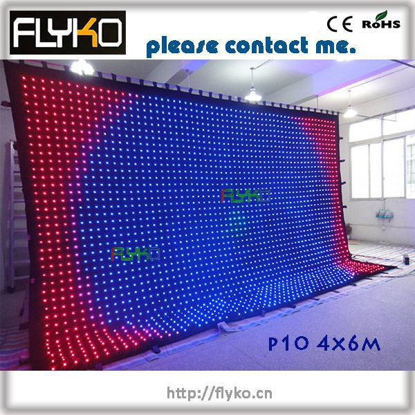 US $2880 0 |software full color led lighting digital display led video  curtain-in Stage Lighting Effect from Lights & Lighting on Aliexpress com |