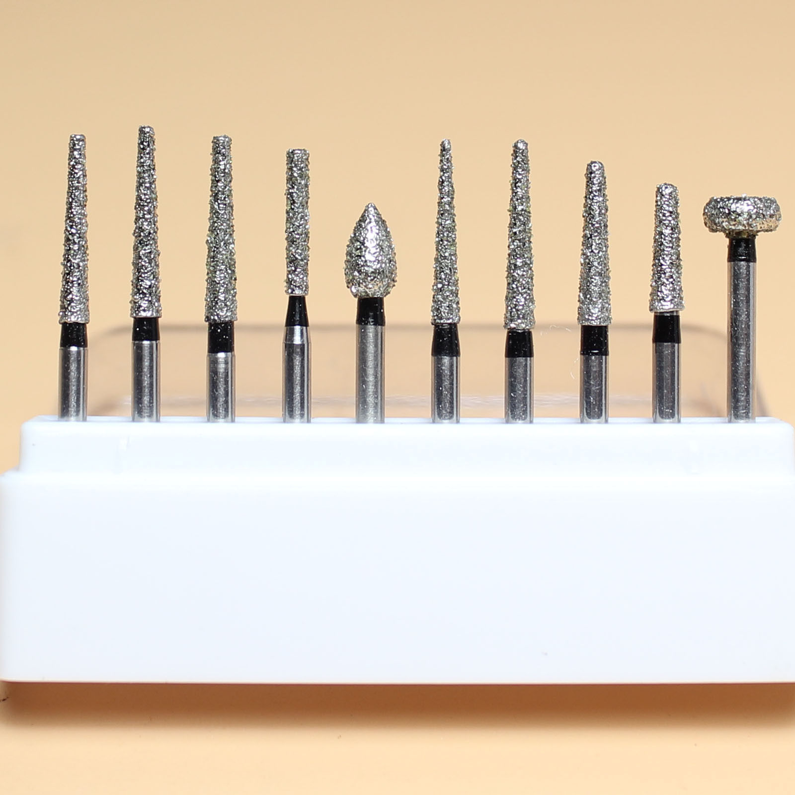 Dental Black Diamond Burs Drill Kit Gingiva Protection High Quality E# Lus