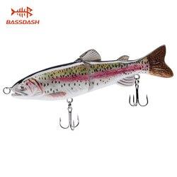 Bassdash Swimbaits Crankbaits Glide przynęty twarde pstrąga przynęty do wody słodkiej słonowodne Bass duża gra połowów  18.3 cm/65.2g