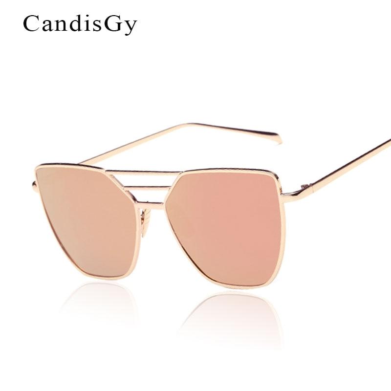 Flat Top Rose Gold Muškarci Ženska ogledala Sunčane naočale Modni - Pribor za odjeću - Foto 2