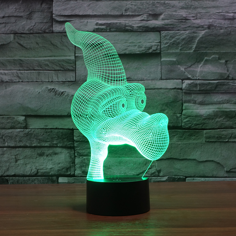 3D carton pterosaur moulding table lamp Acrylic Entertainment l illusion LED Lamp USB desk baby night light