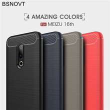 Meizu 16th Case Cover Shockproof Silicone Brushed Phone Bumper Back For 16 Mobile Fundas 6.0[