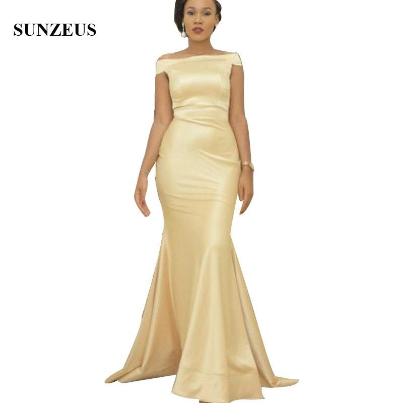 Yellow Champagne Bridesmaid Dresses