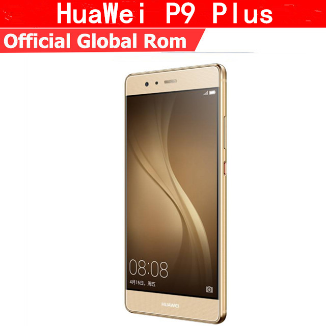 "International Firmware HuaWei P9 Plus 4G LTE Cell Phone Kirin 955 Android 6.0 5.5"" FHD 4GB RAM 128GB ROM 12.0MP Force Touch"