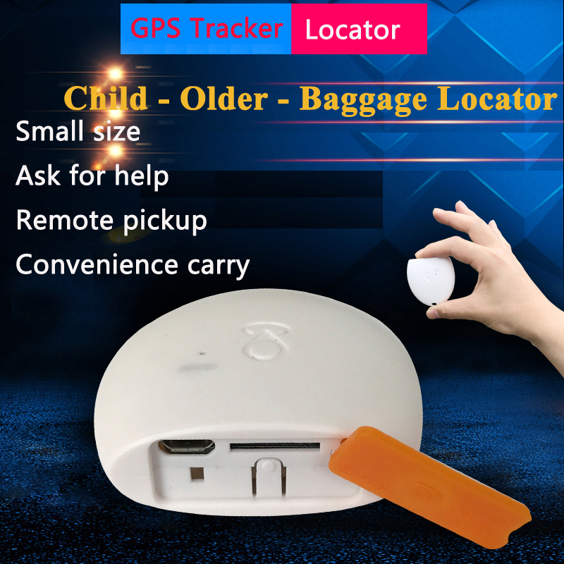 Personal Or Luggage Locator Mini Gps Tracker Real-Time Tracking Electronic Fence Lost Alarm Gps Tracker Children