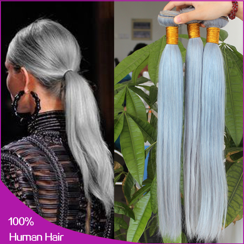 6a grade greygray peruvian virgin hair straightperuvian hair 6a grade greygray peruvian virgin hair straightperuvian hair weave bundles 14 20inch 100 human hair extension free shipping in hair weaves from hair pmusecretfo Images