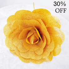 Christmas Decoration Glitter Rose Artificial Peony Flower Festival Party Event Window Shopping Display 30cm