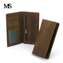 Genuine Leather Men Wallets 2016 Famous Brand Credit Card Holder Purse Bag Coin Pockets Zipper Long Wallet  High Quality TW1634 цены