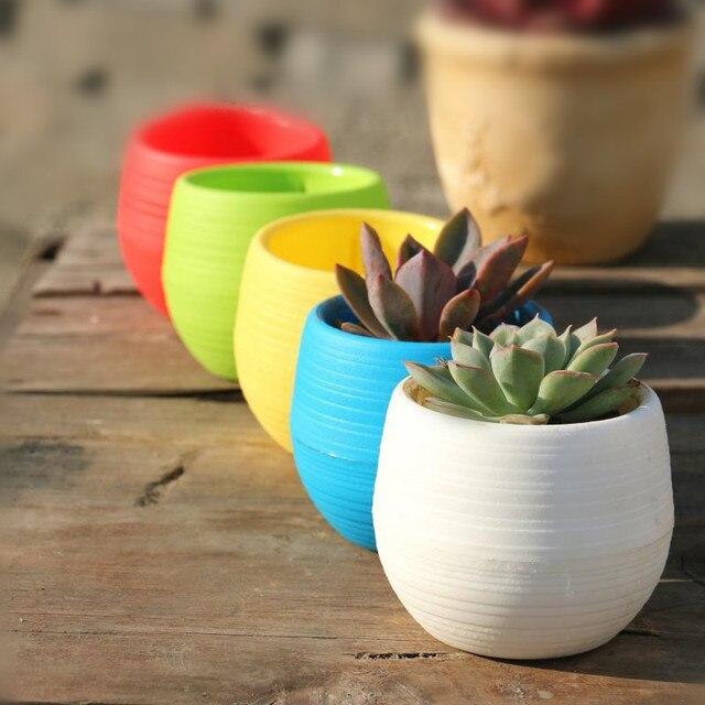 Whole Flower Pots Mini Flowerpot Garden Unbreakable Plastic Nursery For Succule 20pcs