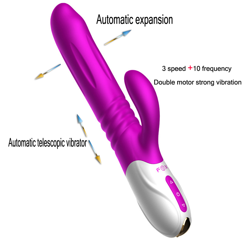 FOX Sex Toys for Woman G-spot Clit Vagina Expansion Stimulator, Female Masturbation Sex Machine Thrusting Dildo Vibrator new tongue vibrator sex toys for woman clit vagina stimulator mute super shock motor 60s arouses female orgasm adult masturbator
