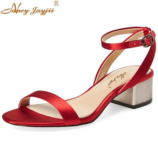 Zapatos rojos con hebilla formales para mujer 27VuzqVxUk
