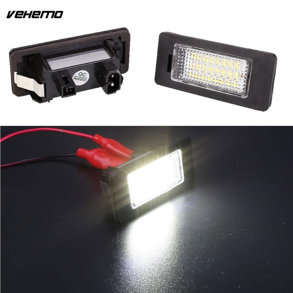 Vehemo 2pcs LED Bulb Beads Number License Plate Light Lamp for BMW 1er/6er 3W White Light Super Bright