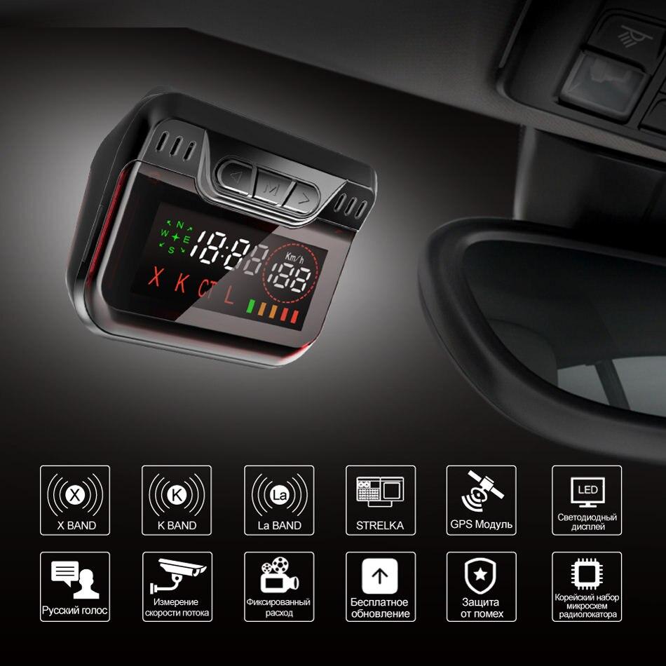 Nieuwe Ruccess Politie Radar Detector voor Rusland GPS Speed Laser band Auto Detector 2 in 1 GPS Anti Radar voor car Auto 360 X LA CT L - 2