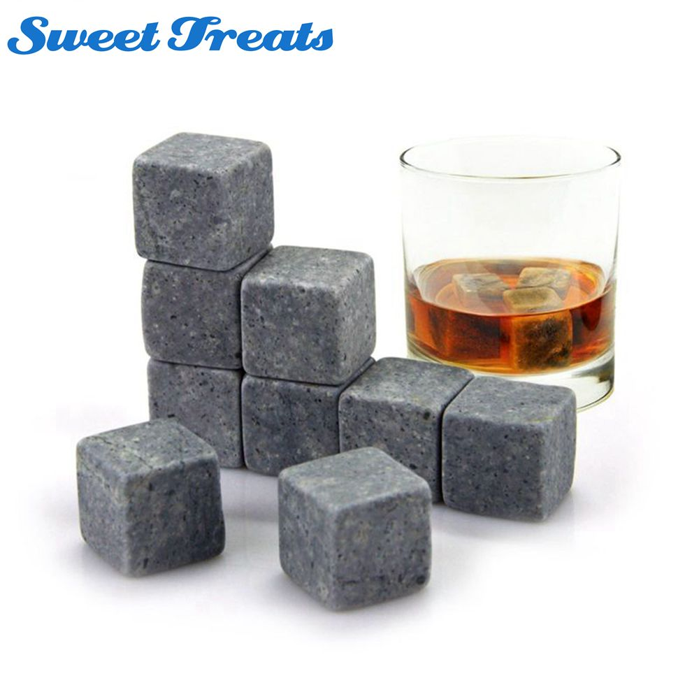 Whiskey Stones Yummy Sam Reusable Ice Stone Chilling Rocks Cubes In Box With Carrying Pouch On The